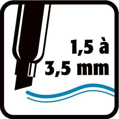 1,5 à 3,5 mm
