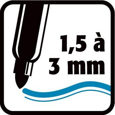 1,5 à 3 mm