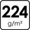 224 g