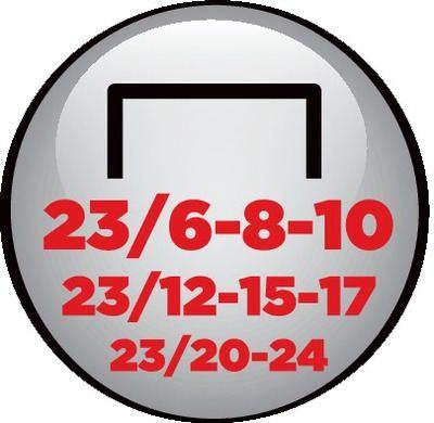 23/6-8-10 23/12-15-17 23/20-24