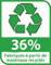 Recyclé 36%