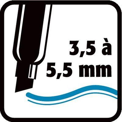 3,5 à 5,5 mm