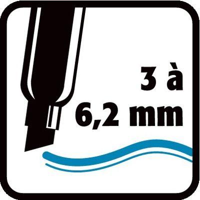 3 à 6,2 mm