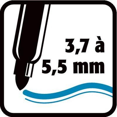 3,7 à 5,5 mm