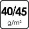40/45 g