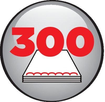 300 feuilles