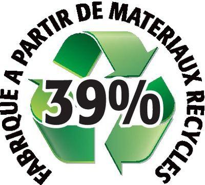 Recyclé 39%