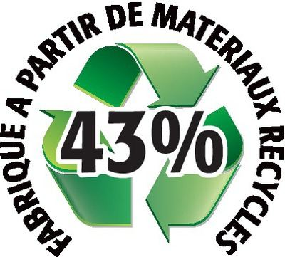 Recyclé 43%