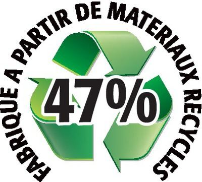 Recyclé 47%