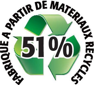 Recyclé 51%
