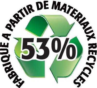 Recyclé 53%