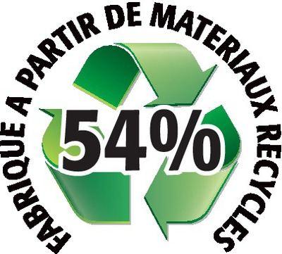 Recyclé 54%