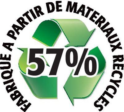 Recyclé 57%