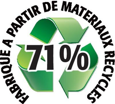 Recyclé 71%
