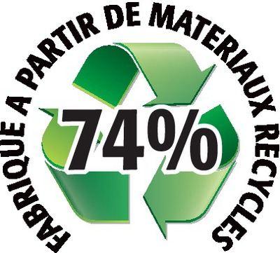 Recyclé 74%