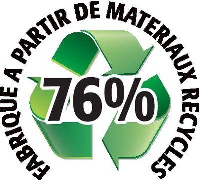 Recyclé 76%