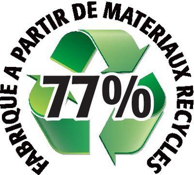 Recyclé 77%