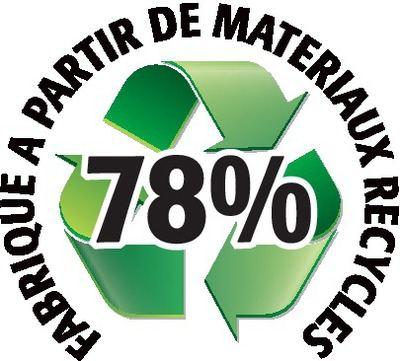 Recyclé 78%