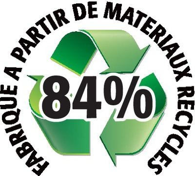 Recyclé 84%