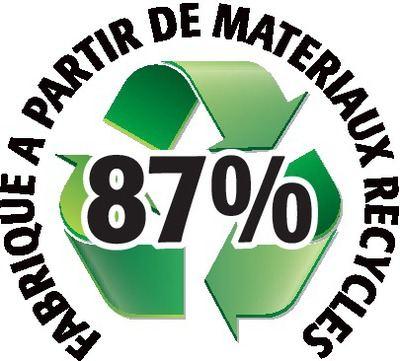 Recyclé 87%