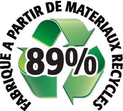 Recyclé 89%