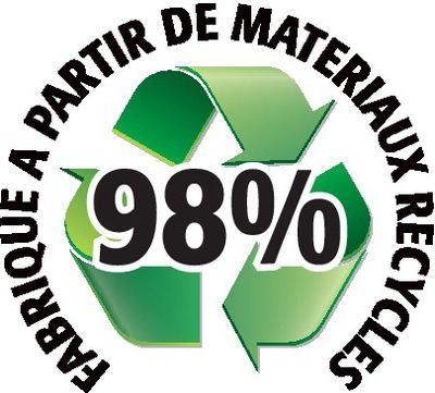Recyclé 98%