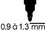 0,90 à 1,3 mm
